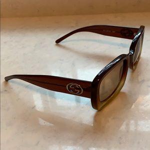 Gucci vintage burgundy ombré sunglasses